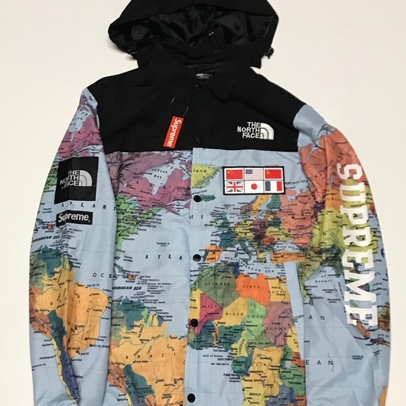 913d37649 Supreme x The North Face Map Jacket NWT
